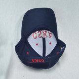 Gorra de béisbol de encargo de la tela cruzada del algodón de la marina del bordado 3D