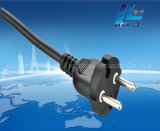 2-Pin cable de cobre Alemania Estilo Extension Plug 16A 250V