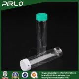 la bottiglia di plastica della gomma da masticare della bottiglia della capsula della bottiglia di pillola dell'animale domestico trasparente 110ml con strappa fuori la protezione