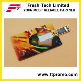 En forme de carte de crédit lecteur Flash USB avec logo