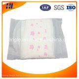 Serviette hygiénique respirable molle de femmes adultes de coton de fournisseur de marque
