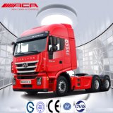 Carro largo del alimentador de la casilla 50t de la alta azotea de Saic-Iveco Hongyan 340HP 6X4