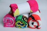 Couverture personnalisée imprimée en laine de corail avec design