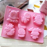 Moulages en caoutchouc de gâteau de silicones de conformité de FDA de zodiaque chinois pour faire le chocolat