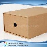 Gewölbtes Papier-Fach-Verpackungs-Geschenk-Kleid-Kleidung-Schuh-Kasten (xc-aps-005c)