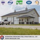 Estructura de acero prefabricada como taller con la oficina y el pabellón