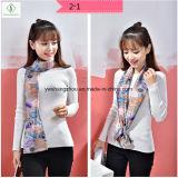 Nouvelle conception Cravat Silk Stain Fashion Lady Scarf avec imprimé