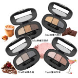 3 colores Eyeshadow Paleta de maquillaje de larga duración el metal desnudo desnuda la sombra de ojos Es0326