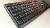 USB Wired Mini Keyboard Black Keyboard com 104 teclas Djj2116 para Laptop Desktop Gaming Tipos básicos