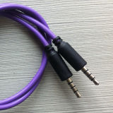 Aux audio de 3,5 mm cable de conexi n de 4 polos 1m