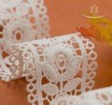다중 색깔 폴리에스테 프린지 Macrame 리본 스위스 보일 건조한 자카드 직물 직물 크로셰 뜨개질 레이스