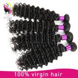 完全なクチクラの人間の毛髪の織り方の深い波のブラジル人の毛