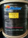 Cable coaxial Rg59 del blindaje estándar con el PE sólido y la cobertura del 95%