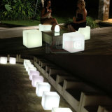 "12 ""silla de barra de LED Cube Shape Glowing Stool"