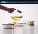 600ml de thee-Maker van het Glas van Resisitance van de hitte Chinese Theepot met Handvat