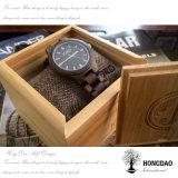 Hongdao passte Firmenzeichen-hölzernen Uhr-Geschenk-Kasten mit Fabrik-Preis-Uhr-verpackenkasten _E an
