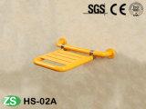 Assento de madeira anti-séptico do chuveiro da inutilização da dobradura fixada na parede