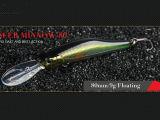 Attrait en plastique de pêche (vairon de transfert 80mm flottant)