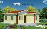 La costruzione prefabbricata chiara di lusso del blocco per grafici d'acciaio alloggia le case/ville prefabbricate
