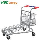 Supermercado Pesado Carrinho de Depósito de metal