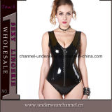 As mulheres Sexy Lingerie Catsuit couro de PVC (TW1257)