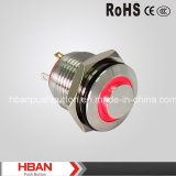 HBAN 16mm Cabeza Alta metal pulsador con luz LED