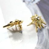Gold/antike Goldfarbe mit Rhinestone-kleinen Kristallstift-Ohrringen