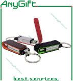 돋을새김된 로고 25를 가진 가죽 USB 섬광 드라이브