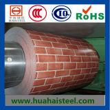 Bobine en acier galvanisé à motif en brique en prix compensateur