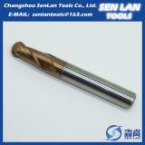 Торцевая фреза носа шарика карбида вольфрама высокой точности твердая для подвергать механической обработке CNC