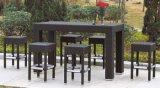 Im Freien Flechtweide/Rattan 6 Seater Stab-Schemel-Set