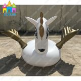 여름 물 장난감 팽창식 Pegasus 황금 백조 홍학 수영장 부유물