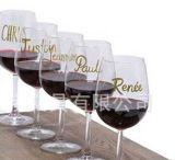 Verre à vin feutre avec Non toxique et Eraseable
