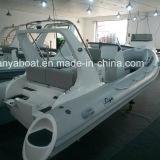 Liya 5.8m 10men Barco de patrulla inflable del barco de la fibra de vidrio del casco rígido