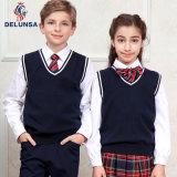 Negro de alta calidad uniforme escolar Vest