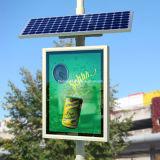L'énergie solaire Rue Case de défilement de la lampe témoin de la publicité