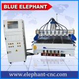 Ranurador multiusos del CNC de la carpintería de 8 pistas Ele-1730
