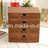 Casella di memoria di legno ecologica portatile di lusso personalizzata di rivestimento antico