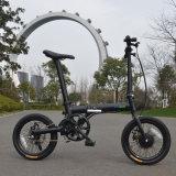 LCD Displayerが付いている電気自転車を折る36Vによって隠される電池都市