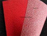 Nicht gesponnener Rippen-Ausstellung-Teppich, Velour-Teppich mit Latex-Schutzträger