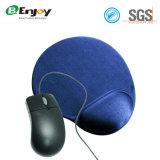 Almofada de rato do gel com cor do azul da sustentação de pulso