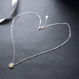 925 de echte Zilveren Hete Verkoop van Neckace van de Tegenhanger van de Vorm van de Bloem van Juwelen