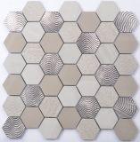 Parete decorativa del mosaico delle mattonelle di pietra della cucina