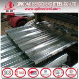 Feuille de fer ondulé de zinc d'IMMERSION chaude de SGCC Dx52D