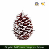 Candela intagliata Handmade di figura di cono del pino