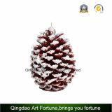 Forma del cono del pino talladas hechas a mano Vela
