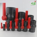Válvula de bola de plástico, UPVC/válvula de bola de toma de PVC