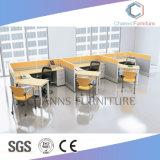 Sitio de trabajo moderno de la oficina de los muebles con la partición