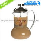 熱い販売のガラスコーヒー鍋または茶鍋か水差し中国製