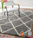 Tapis pelucheux de tapis à longs poils de couvertures lisses modernes d'intérieur de région